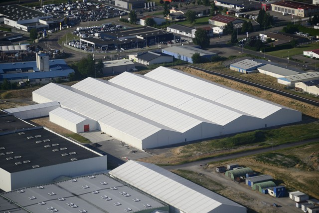 Hall de stockage & agrandissement surface de production